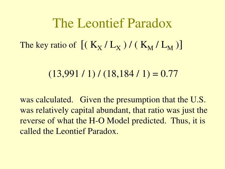The Leontief Paradox