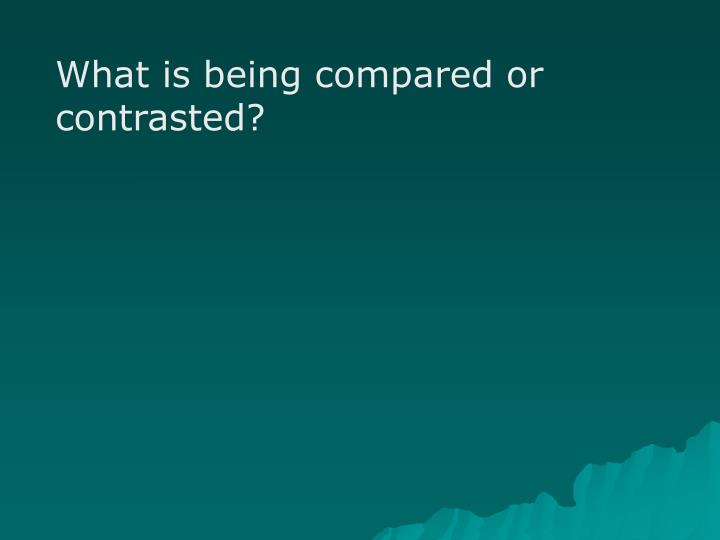 What is being compared or contrasted?
