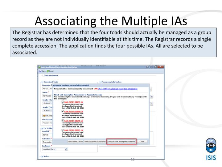 Associating the Multiple IAs
