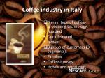 coffee industry in italy1