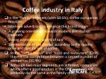 coffee industry in italy2