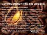 marketing strategy of leading companies