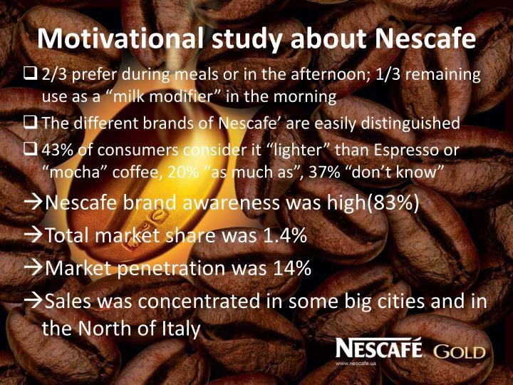 Motivational study about Nescafe
