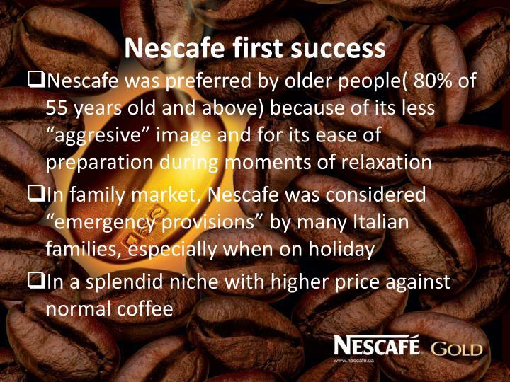 Nescafe first success
