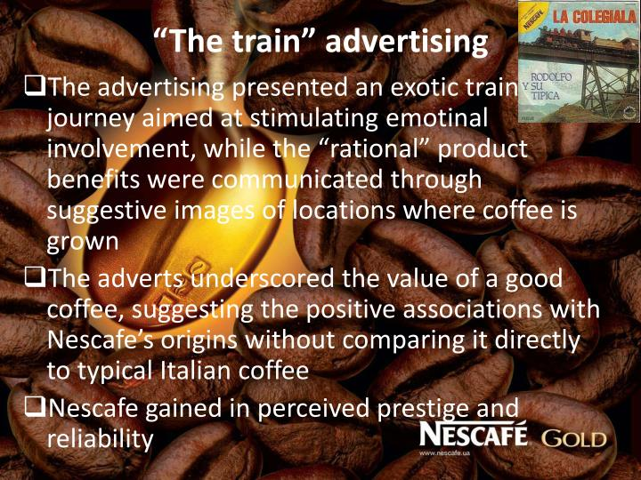"""The train"" advertising"