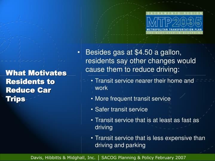 What Motivates Residents to Reduce Car Trips