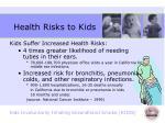 health risks to kids