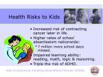 health risks to kids2