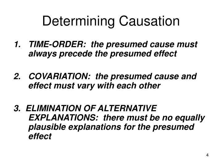 Determining Causation