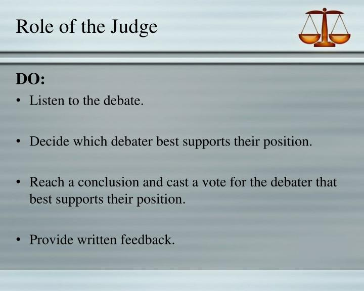 Role of the Judge