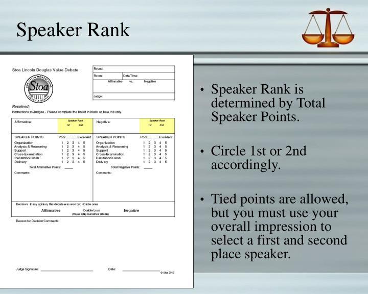 Speaker Rank