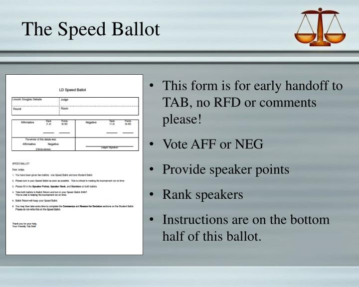 The Speed Ballot