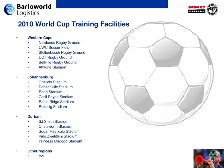 2010 World Cup Training Facilities