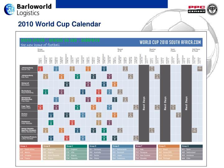 2010 World Cup Calendar
