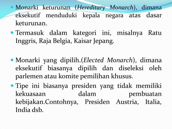 Monarki keturunan (