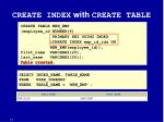 create index with create table statement