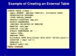 example of creating an external table1