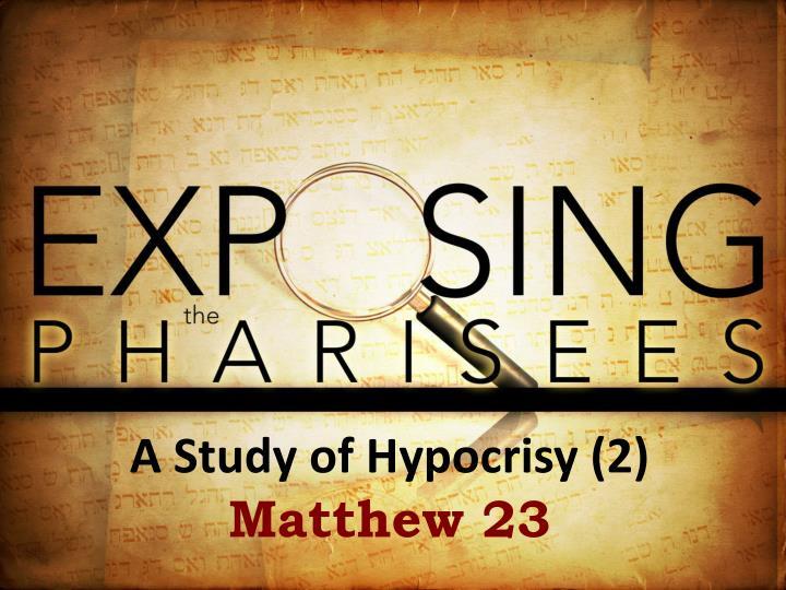 A Study of Hypocrisy (2)