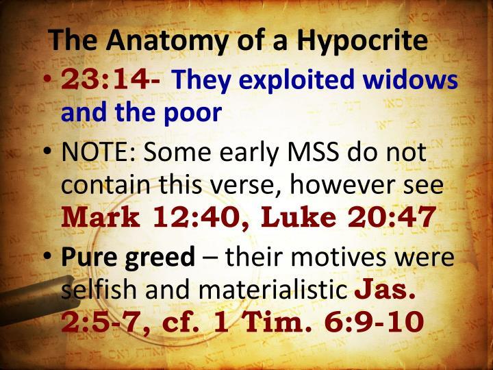 The Anatomy of a Hypocrite