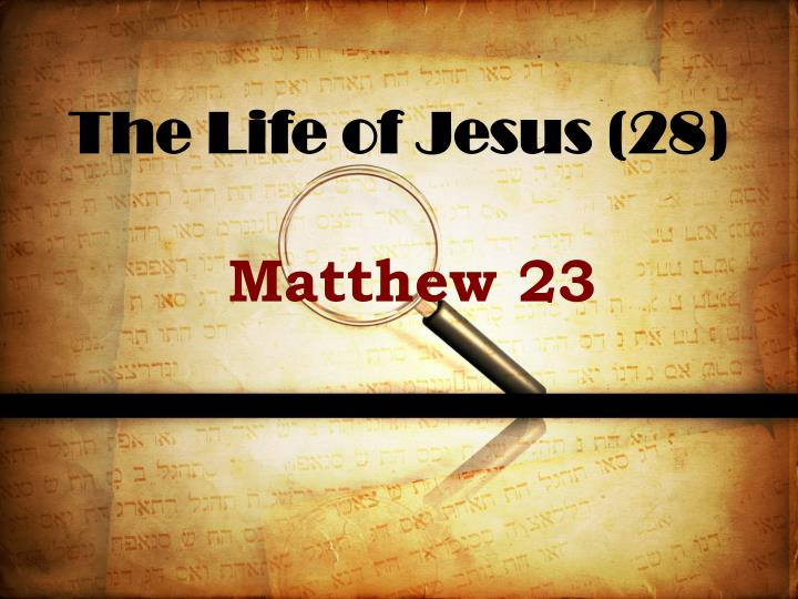 The life of jesus 28