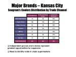 major brands kansas city seagram s coolers distribution by trade channel