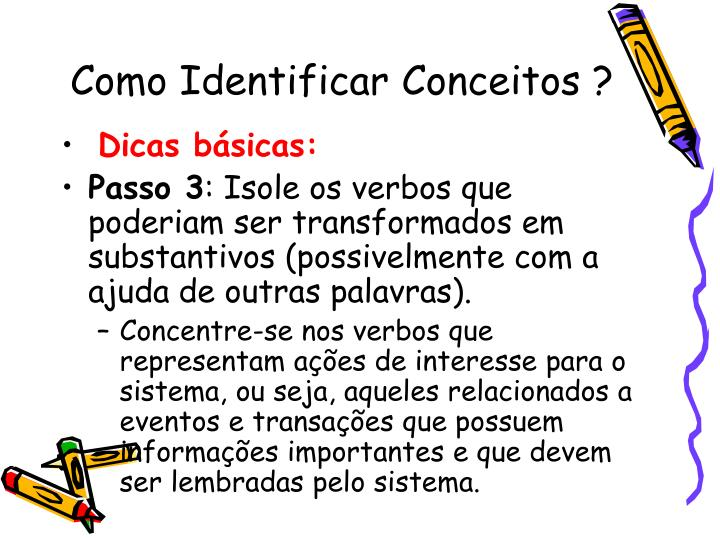 Como Identificar Conceitos ?