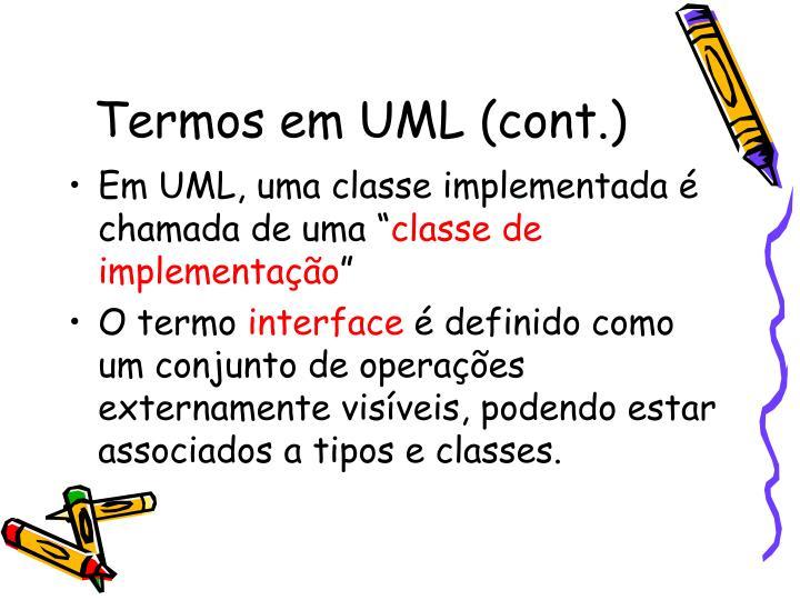 Termos em UML (cont.)