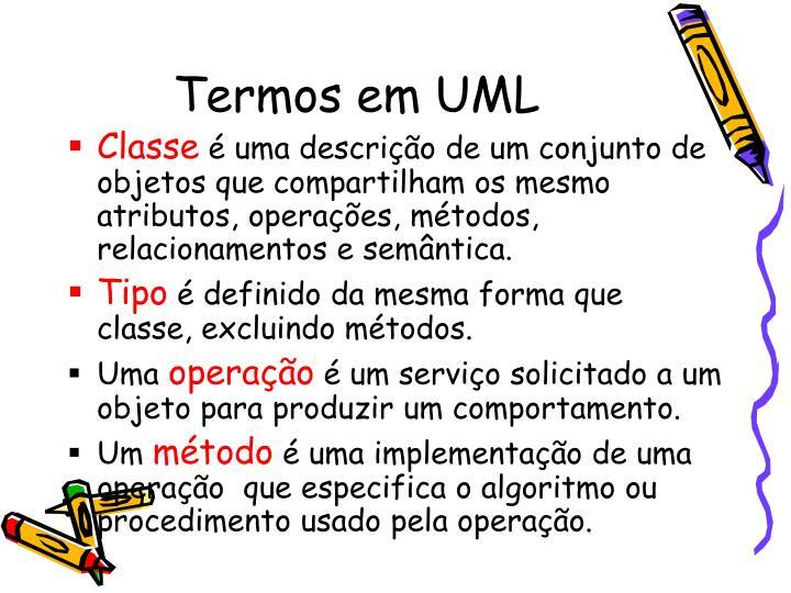 Termos em UML