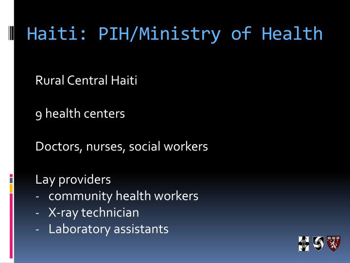 Haiti pih ministry of health