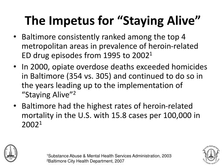 """The Impetus for """"Staying Alive"""""""
