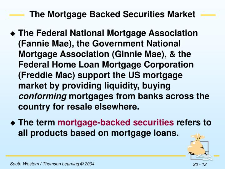 The Mortgage Backed Securities Market