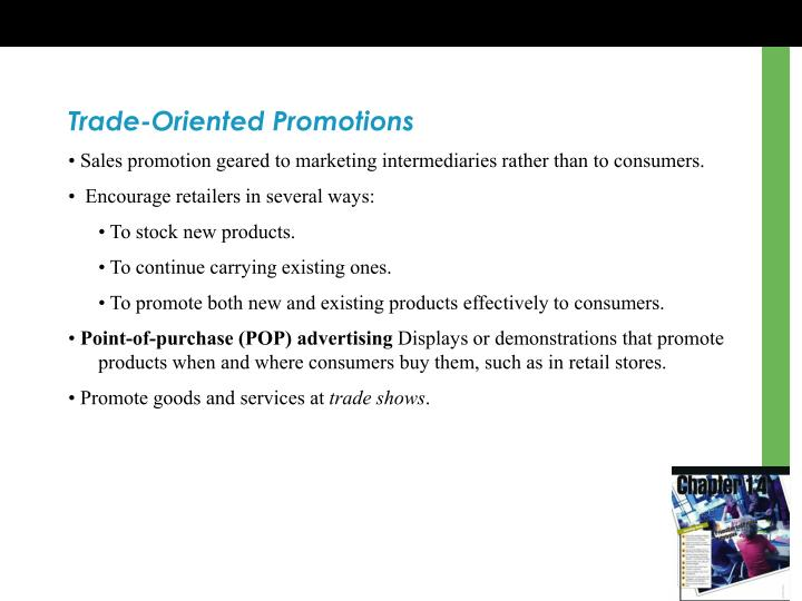 Trade-Oriented Promotions