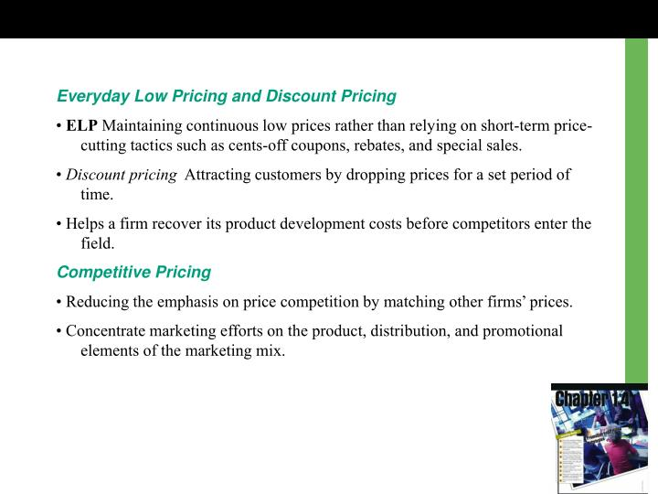 Everyday Low Pricing and Discount Pricing