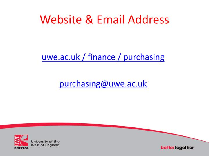 Website & Email Address