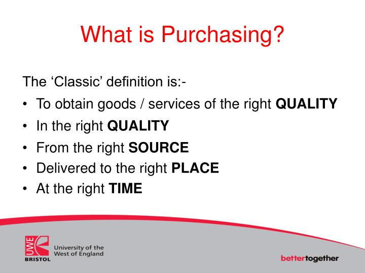 What is Purchasing?