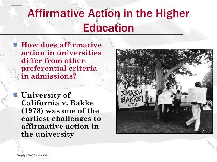 Affirmative Action in the Higher Education