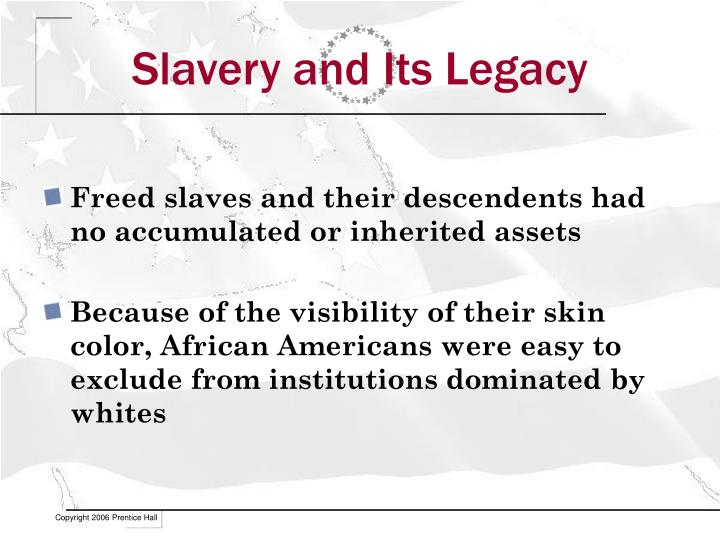 Slavery and its legacy1