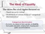 the ideal of equality