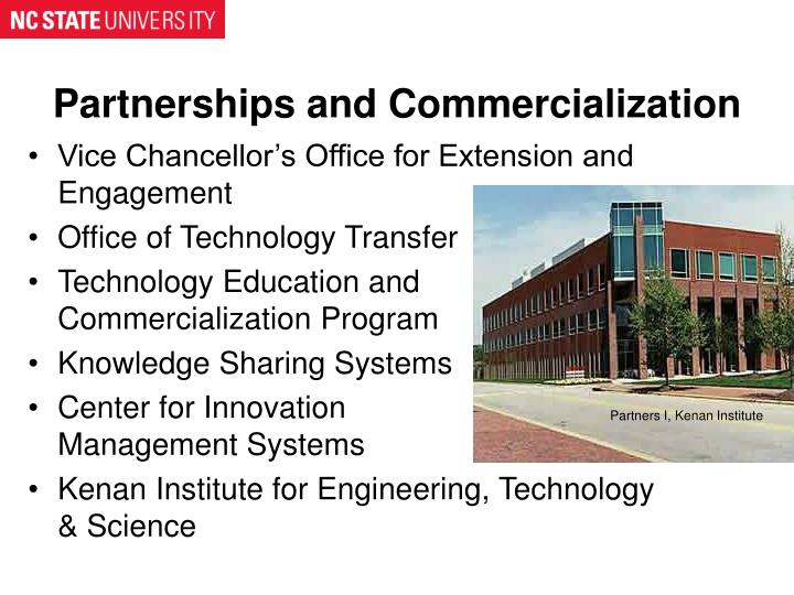 Partnerships and Commercialization