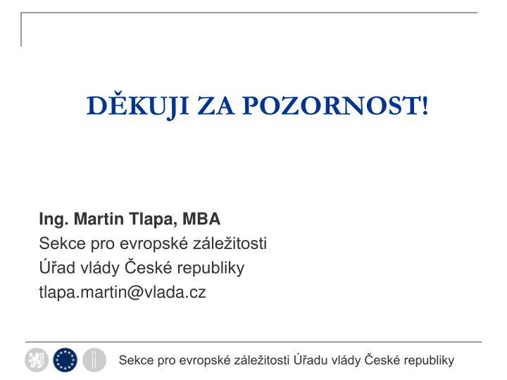 Ing. Martin Tlapa, MBA