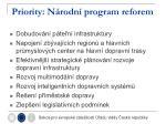 priority n rodn program reforem