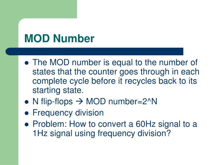 MOD Number