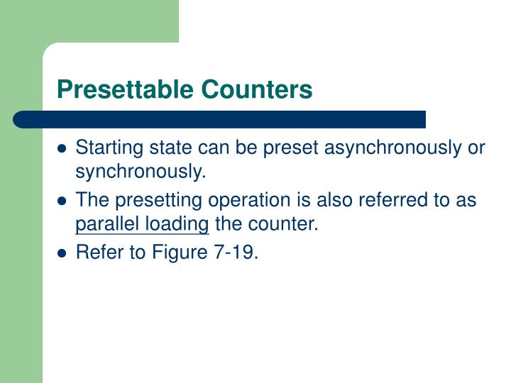 Presettable Counters