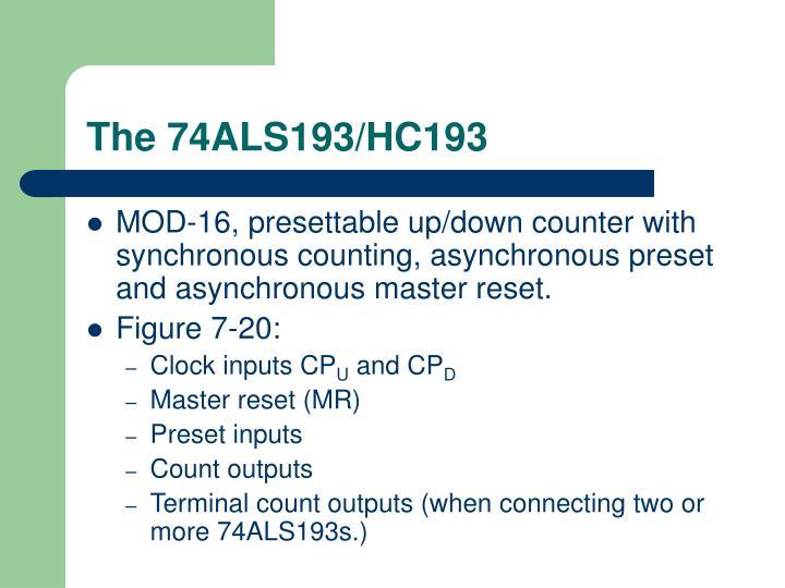 The 74ALS193/HC193