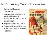 1d the looming menace of communism