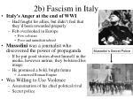 2b fascism in italy