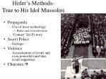 hitler s methods true to his idol mussolini