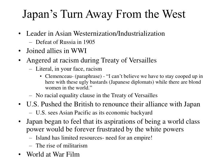 Japan's Turn Away From the West
