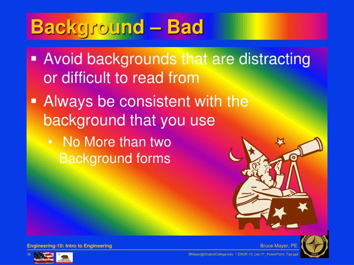 Background – Bad