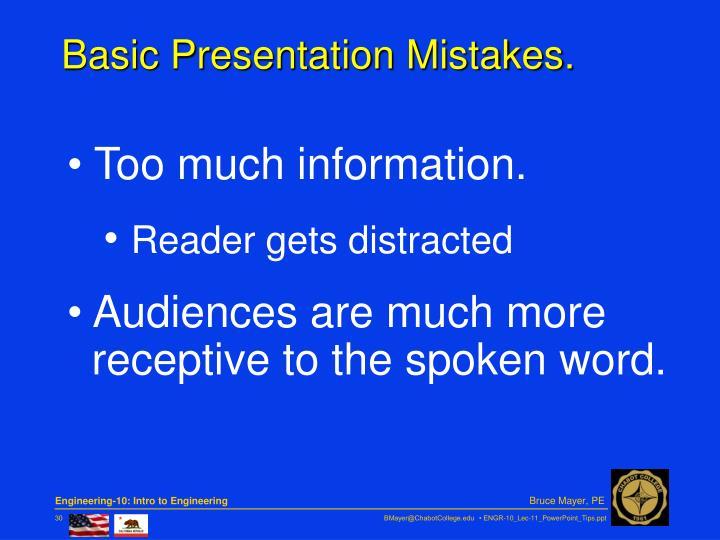 Basic Presentation Mistakes.